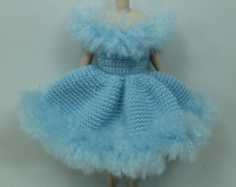 Handcrafted crochet knitting dress outfit clothes for Blythe doll # 200-28