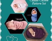 Cuddle Cocoon pdf PATTERN Pack (digital download), sale, special, crochet, bunting, swaddle sac, baby wrap, newborn, photo prop for baby