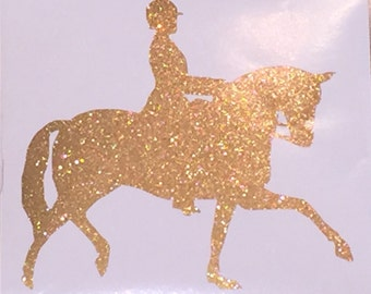 Dressage Horse Window Decal