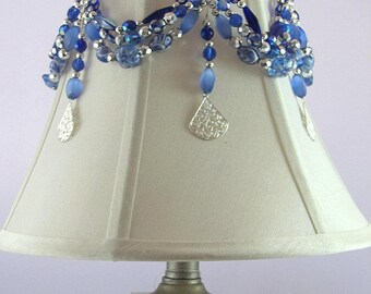 Lamp jewelry for your lampshade.  Beaded cover with hooks.