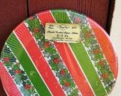 1960s Unused CHRISTMAS 8  Paper Plates Sealed MINT