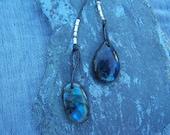 Labradorite Necklace- Long Leather Fun