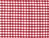 Red and White 1/4 Inch Plaid Checked Gingham, Robert Kaufman Carolina Gingham, 1 Yard