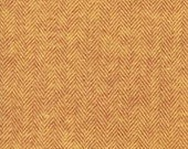 Rust and Gold Pumpkin Herringbone Robert Kaufman Shetland Flannel, 1 Yard