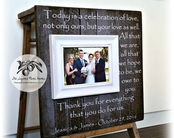 Parents Wedding Gift, Wedding Thank You, Wedding Frame, 16x16 The Sugared Plums Frames