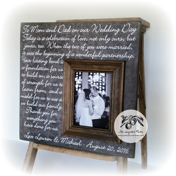 Personalized Wedding Photo Frames For Parents : Personalized Wedding Frame, Wedding Gifts for Parents, Father of the ...