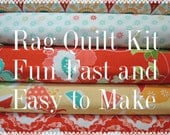 Rag Quilt Kit, Ardently Austin, Kit 1, Super Simple to Make, Personalized, Bin A