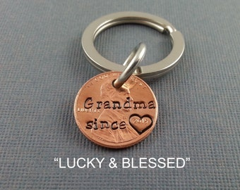 Grandma Engraved Penny - Gift for Her - Daughter Gift For - Engraved Penny - Son Gift For - New Grandma - Best Grandma