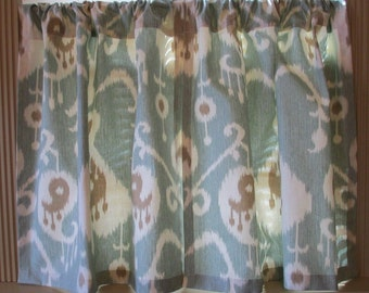 New Cafe Curtains Ikat  Fabric set 25 x 24 Tiers