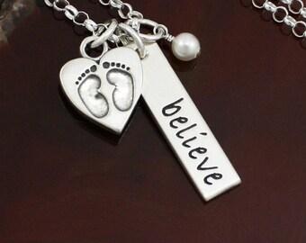Believe Fertility / Adoption Necklace | Fertility Jewelry | Sterling Silver