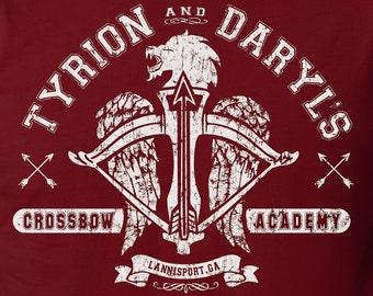 The Walking Dead Shirt Game of Thrones Shirt Crossbow Mashup Tyrion Lannister & Daryl Dixon Shirt Negan Shirt Rick Grimes