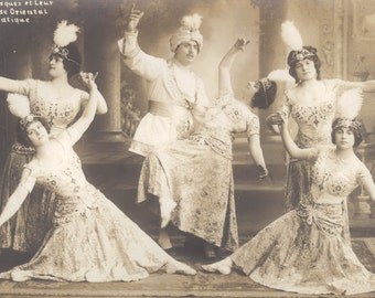 Five Odalisques and a Pasha, French Acrobatic Dance Sextette, circa 1910s