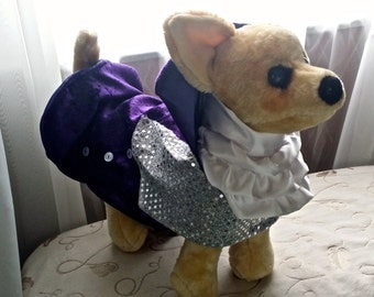 Dog Purple Rain Prince Costume Coat for all size dogs