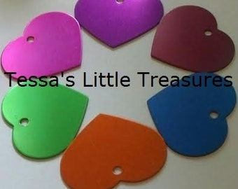 Large - Heart - Pet Tag - Engraved 2 Sides