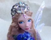 RESERVED OOAK Fairy Art Doll Hand Sculpted Faerie Polymer Art Doll Fairy Sculpture Miniature Faery Figurine Fantasy Doll