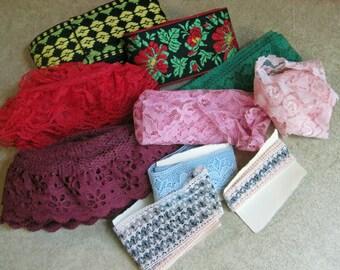 Vintage Lace Trim Lot