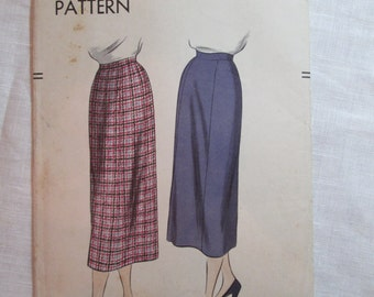 "Antique 1951 Vogue Pattern #7033 - size 26"" Waist"
