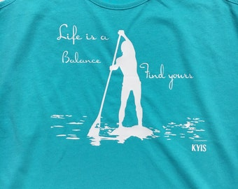Life is a Balance racer back tank