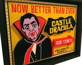 Wildwood NJ Castle Dracula 3D Art New Jersey Shore Boardwalk
