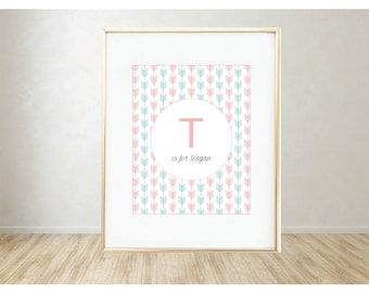 Personalized Printable Art: T is for...