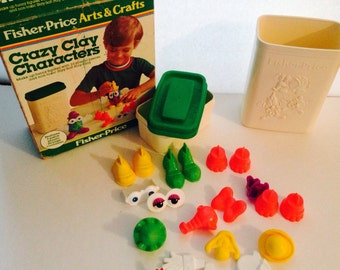 Fisher Price , Crazy Clay Characters, 1980s