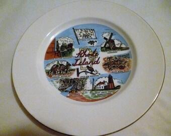 Rhode Island Souvenir Plate