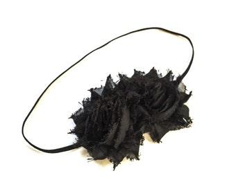 Black Headband - Headband - Girls Black Flower Headband -Baby Girl Headband - Baby Headbands - Headbands for Girls -  Headbands - Hair Clip