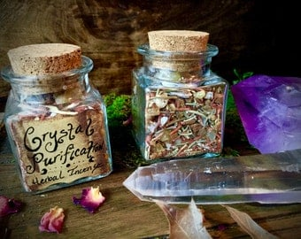 Crystal Purification Herbal Incense- Protect and Purify