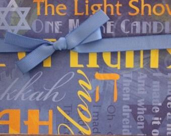 Hanukkah Card, The Light Show Card, Holiday Card, Happy Hanukkah Card