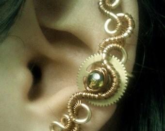 Steampunk Halo Copper Ear Cuff