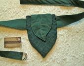 Elven Leaf Tribal Boho Pixie Pocket Festival Tapestry Utility Belt