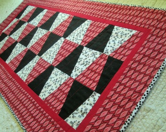 Quilted Geometric Tribal Table Runner
