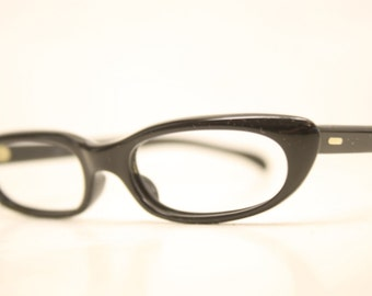 Vintage Eyewear Small Black Cat Eye Glasses Unused Cat Eye Eyeglasses
