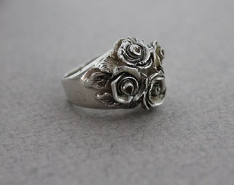 Reproduction Ring Marie Antoinette Sterling Silver Ring Antique Look Ring