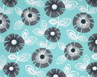 Aqua Turquoise And Gray Fabric Etsy