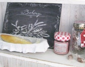 12th Scale - Bakery Sign, Pewter Bread Basket, Strawberry Jam, Caramel Candy jar