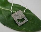 Silver scottie pendant: Handmade in Sterling Silver