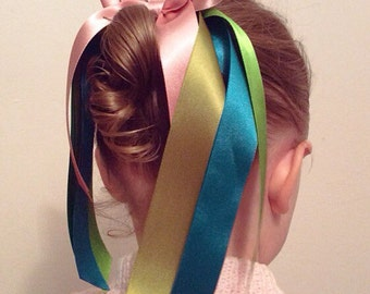 Anna Hair Bow In Satin Large Bow For Girls Disney Frozen Bow By Seriously Sassyx