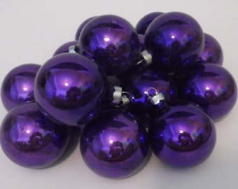 15 Vintage Rauch Christmas Purple Mercury Glass Ornaments