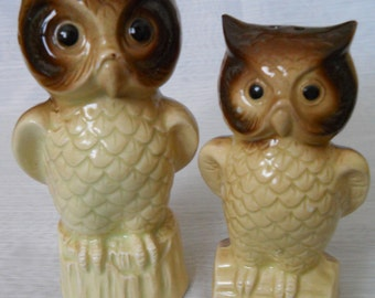 Owl Salt and Pepper Shakers - vintage, collectible, birds