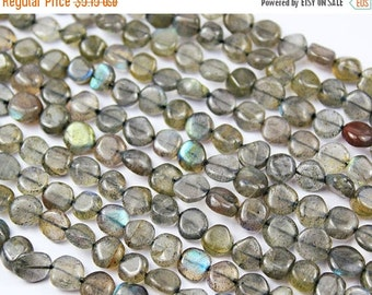 VALENTINE SALE 55% Natural Labradorite Smooth Polished Coin Round Beads Strand, 14 Inches, 6mm, SKU3094/D