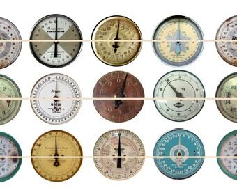 Vintage Magnets/Pins, Antique Scale Dials Magnets,  Steam Punk Dials, Vintage Scale Dials, Gift Sets, Party Favors, Fridge Magnets