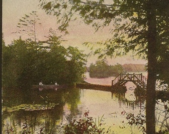 Near Ivy Lea Thousand Islands Canada – Unused Vintage Postcard – Quiet Day on the River