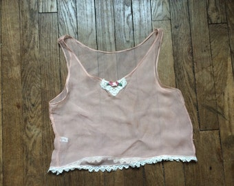 1930s Peach Silk Cami