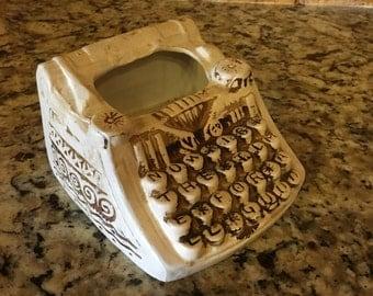 Vintage 70's Ceramic Typewriter Planter