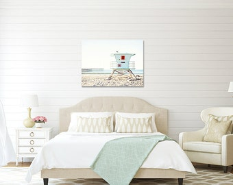 Canvas Gallery Wrap, Large Wall Art, Oversized Art, Beach Decor, Coastal Decor, Pale Blue, White, Ready To Hang Art, Canvas Art, Photography