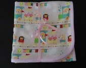 Blanket for Baby-Flannel Receiving Blanket or Crib Bedding-New Baby Train Fabric-Ready to ship-Large size