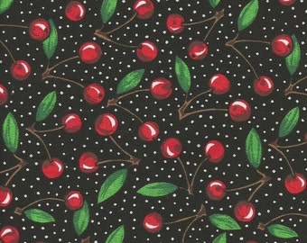 Cherry Print Fabric 2 yards