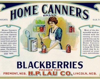 1920s Home Canners Kitchen Fruit Canning Blackberries Lincoln Nebraska