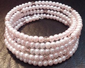 Light Pink Memory Wire Bracelet